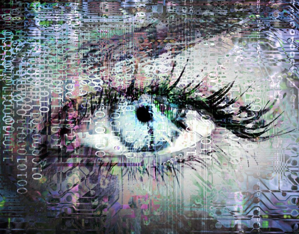 Cybernetic eye with binary code as metapor for shaping a CDO unit