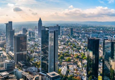The Skyline of Frankfurt in Germany with all the finance buildings at daylight in zeb.market flash (Issue 29 – April 2019) / BankingHub