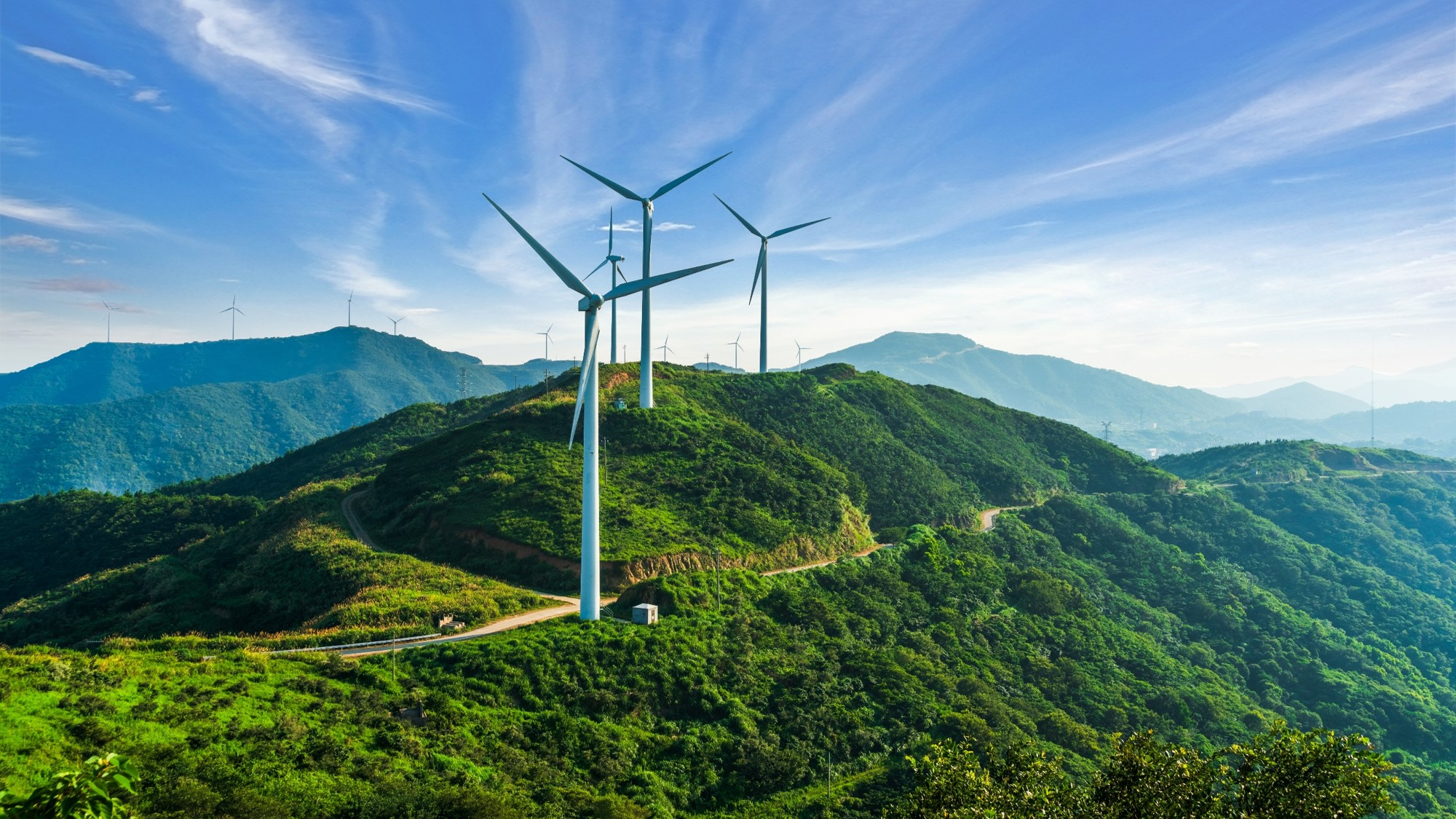 windturbines as metaphor for sustainability in corporate banking