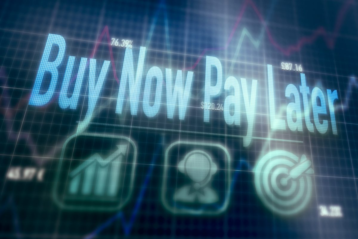 BNPL – buy now, pay later on computer display